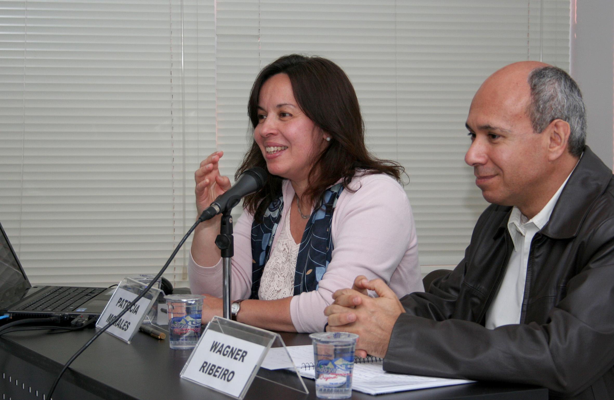 Patrícia Morales e Wagner Costa Ribeiro