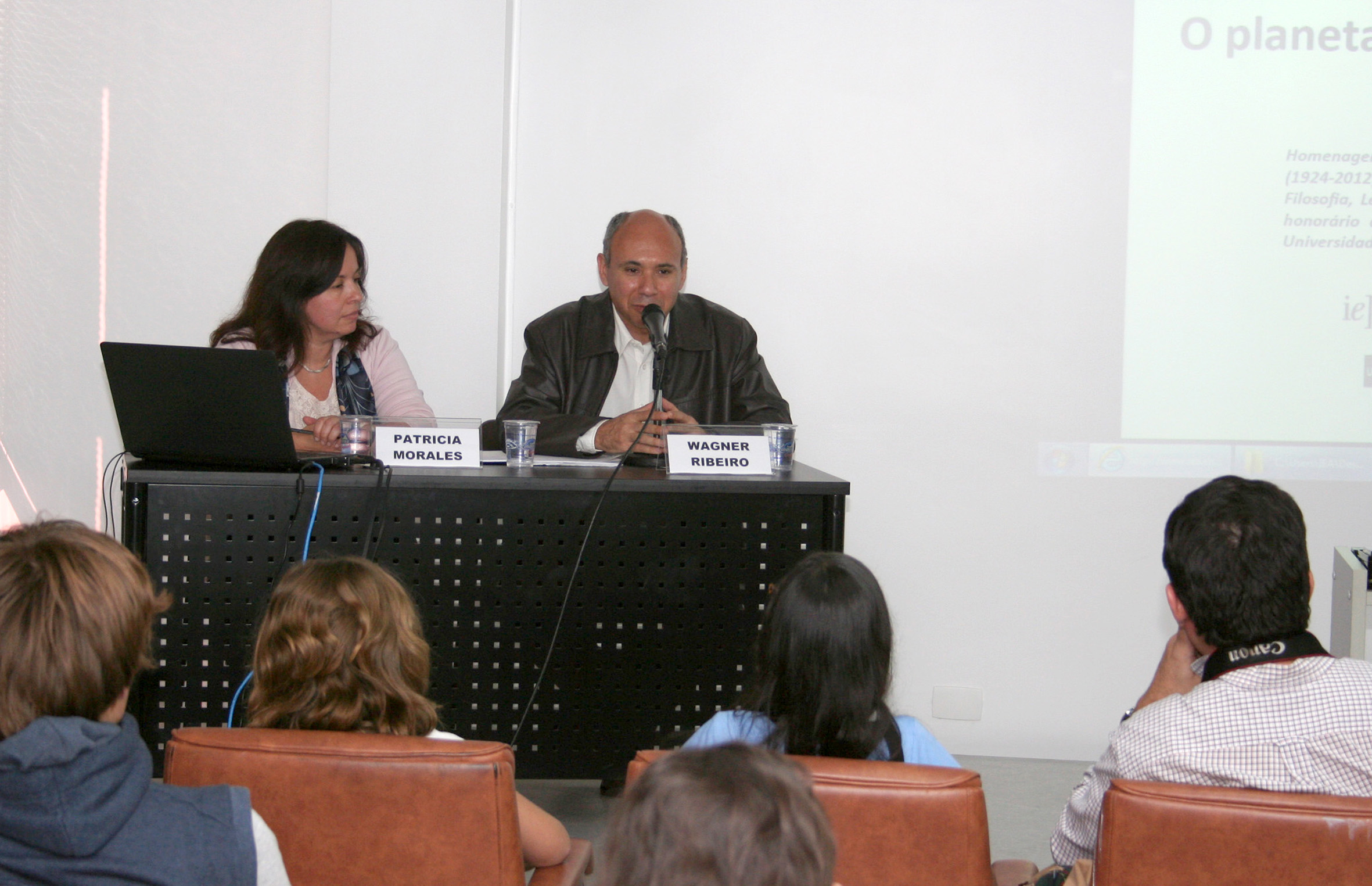 Patrícia Morales e Wagner Costa Ribeiro na Abertura do evento