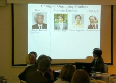 Naoshi Sugiyam, vice-diretor do IAR- Nagoya faz breve explanação sobre seu Instituto