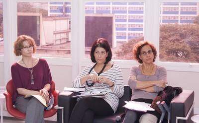 Arlene Clemesha, Lúcia Maciel Barbosa de Oliveira e Sylvia Dantas