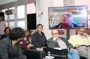 Jorge Luiz Campos, Sérgio Adorno, Guilherme Ary Plonski e Bernardo Sorj via Skype