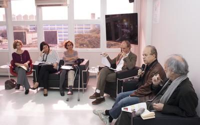 Arlene Clemesha, Lúcia Maciel Barbosa, Sylvia Dantas, Martin Grossmann, Renato Janine Ribeiro e Massimo Canevacci