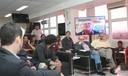 Sérgio Adorno, Guilherme Ary Plonski e Bernardo Sorj via Skype