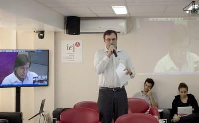 Evandro Mateus Moretto faz a abertura do evento