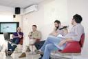 Davide Vecchi, Gustavo Andrés Caponi, Lorenzo Baravalle e Stelio Marras respondem perguntas do público