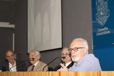 Martin Grossmann, Alfredo Bosi, Rui Curi e Carlos Guilherme Mota