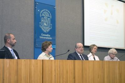 Eduardo Mario Mediondo, Stela Goldstein, Newton de Lima Azevedo, Sonia Chapman e Pedro Jacobi
