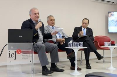 José Fernando Perez, Jorge Kalil e Glaucius de Oliva