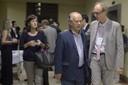 Ministro da Educação Renato Janine Ribeiro e Martin Grossmann no coquetel de abertura - 17 de abril de 2015