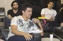 Márcio Brito Amaral fala durante o debate