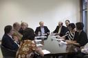 O Ministro da Educação Renato Janine Ribeiro, com os reitores da UNIVESP, UFABC, UFSBA, ex reitor da UFABC e especialistas em educação - 24 de abril de 2015