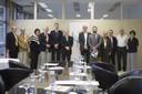 O Ministro da Educação Renato Janine Ribeiro com os reitores da UNIVESP, UFABC e UFSBA, o ex-reitor da UFABC e espeialistas em educação - 24 de abril de 2105