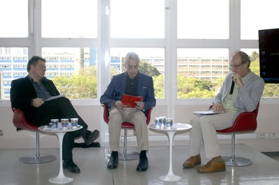 Gerardo Caetano, José Teixeira Coelho Netto e Martin Grossmann