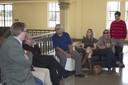 """Paulo Saldiva fala aos participantes da ICA na Faculdade de Medicina da USP - Roteiro """"A USP e a São Paulo modernista"""" - 18 de abril de 2015"""