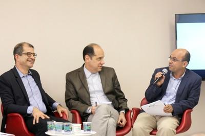 Ricardo Gandour, Eugênio Bucci e Marco Antonio Carvalho Teixeira