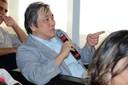 Takaharu Otsuka faz perguntas ao expositor