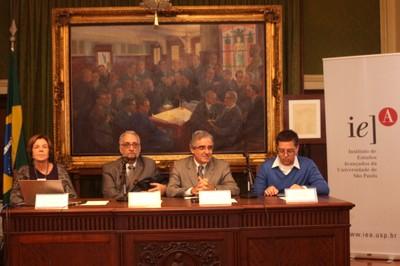 Maria Alice Setubal, Paulo Saldiva, Marcelo de Andrade Romero e Eduardo Saron