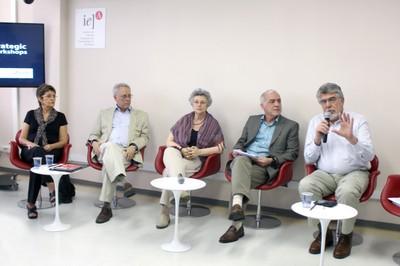 Erminia Maricato, Mario Dal Poz, Lilia Blima Schraiber, Paulo Rossi Menezes e Victor Wünsch Filho