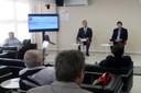 Daniel Lemos e José Eduardo Krieger na abertura do evento