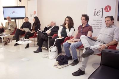 Martin Grossmann, Rubens Mano, Raquel Garbelotti, Sergio Paulo Rouanet, Katia Maciel, Ricardo Basbaum e Marco Giannotti