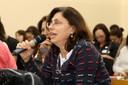 Sandra Maria Sawaya fala durante o debate