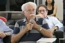 Carlos Alberto Barbosa Dantas faz perguntas aos expositores