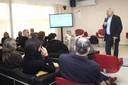 Paulo Saldiva, diretor do IEA, dá as boas vindas ao público