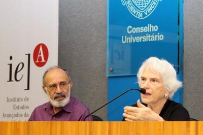 Guilherme Ary Plonski e Rochelle Saidel