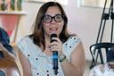Sílivia Freire Dias faz perguntas ao expositor