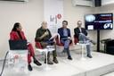 Ligia Fonseca Ferreira, Eduardo de Assis Duarte, Hélio Guimarães e Pedro Marques