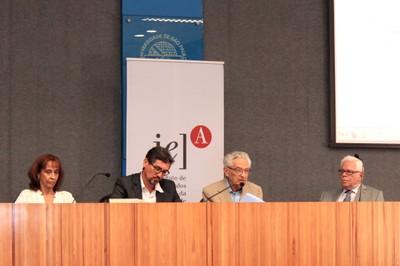 Silvia Eleutério, Hélio Guimarães, Alfredo Bosi e Sergio Paulo Rouanet