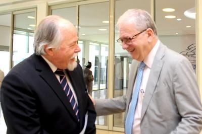 Jacques Marcovitch e o Reitor Marco Antonio Zago