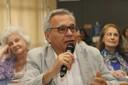 Lino de Macedo fala durante o debate