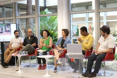 Adriano Mauriz, Edson Paulo, Eliana Sousa Silva, Carolina de Camargo Abreu, Cell Dantas e Fernando Yamamoto