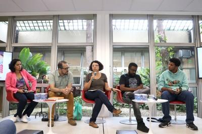 Panmela Castro, Sérgio Miguel Franco, Eliana Sousa Silva, Marcelo D'Salete e Michel Onguer