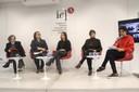 Cristina Antunes, Tatiana Vasconcelos, Mariana Esteves Martins, Ariane Soeli Lavezzo e Teresa Cristina Toledo de Paula