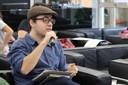 Orlando Lima Pimentel faz perguntas ao expositor
