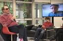 Rubens Mano faz pergunta ao expositor via Skype