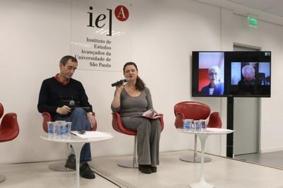 Hervé Théry, Roxane Ré, Neli Aparecida de Mello-Théry e Michel Korinman, (via skype)