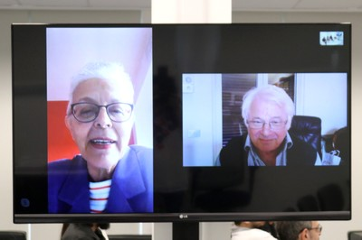 Neli Aparecida de Mello-Théry e  Michel Korinman (via skype)