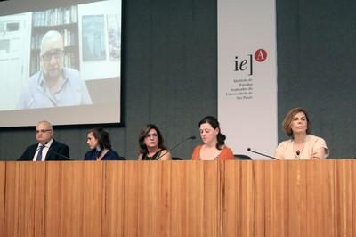 Paulo Saldiva (via Skipe), Jorge Hallak, Zilá Sanchez, Elaine Frade Costa, Roxane Ré e Sandra Farsky