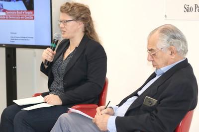 Brigitte Weiffen e José Álvaro Moisés