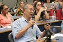 Mikiya Muramatsu fala durante o debate