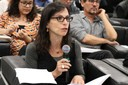 Lilia Schwarcz fala durante o debate