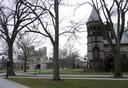 Vista geral campus universidade de Princeton