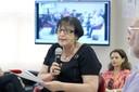 Regina Pekelman Markus abre o evento e explica a dinâmica do debate