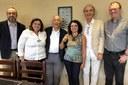 Grupo que recebeu Eliana Sousa Silva em visita ao IEA - 28 de fevereiro de 2018