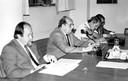 Jacques Marcovitch, Georgi Arbatovi, Tamas Szmrecsányi e Embaixador Amaury Porto de Oliveira