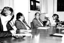 Alberto Luis da Rocha Barros, Jacques Marcovitch, Georgi Arbatovi, Tamas Szmrecsányi e Embaixador Amaury Porto de Oliveira