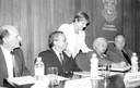 A partir da esquerda, sentados: Gehard Malnic, Adilson Avansi de Abreu, Suely Vilela e Jacques Marcovitch, em pé Lor Cury